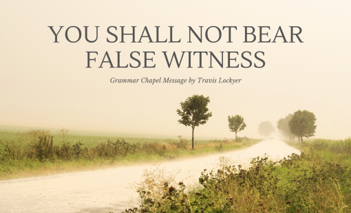 You Shall Not Bear False Witness